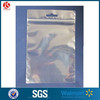 Clear zipper plastic bags with Euro hole pe resealable plastic bags wholesale