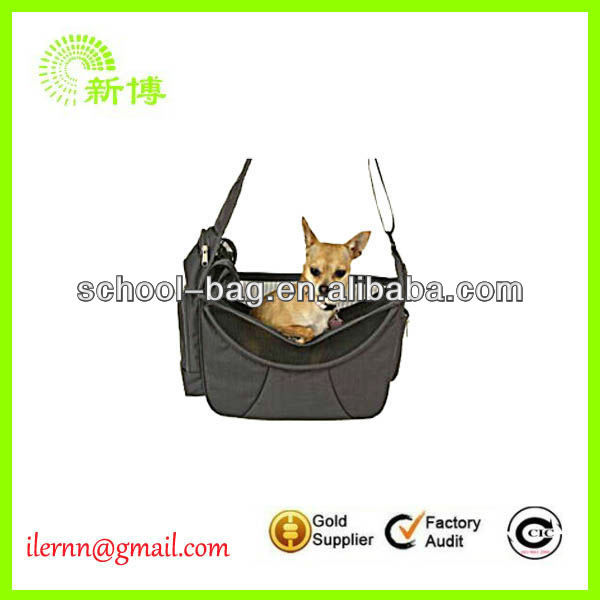 Multi-functional Khaki nylon pet bag for dogs with belts