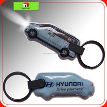 full color brand custom shape pvc press led rubber led key tag