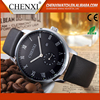 Wholesale Best Gift Day/Date Leather Strap Quartz Watches