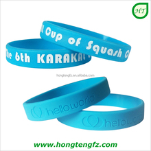 Custom silicone wrist band, high quality inspirational messages promotional wristbands