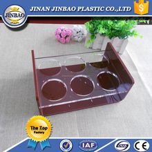 JINBAO high standard clear 6 holes acrylic cupcake display trays