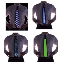 Hot selling!! fashion light up tie funny christmas el ties