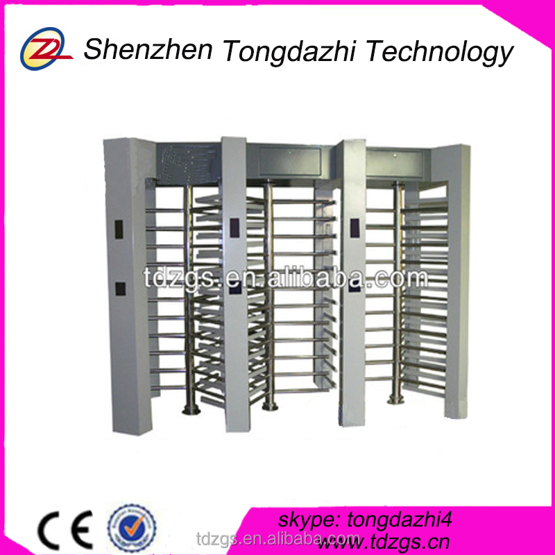Bar code scanning Automatic Electronic Dual- channel Full Height turnstile access control system