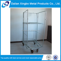 2015 high quality transport roller wire mesh trolley