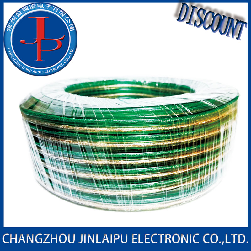 Jinlaipu Transparent speaker cable with OFC or CCA tinne good price