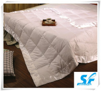 white silk soft polyester cotton micro fiber wool quilted blanket quilt/comforter shell