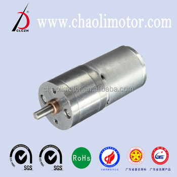 25mm ChaoLi PMDC Spur Geared Motor For Robot And Electric Toy