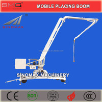 TOP! 13m 15m 17m 18m Mobile Hydraulic Concrete Placing Boom with Wheels/Spider Boom