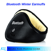 2015 dedicate Bluetooth Music Stereo Headphone Winter Warm Leather Earmuff for exciting life