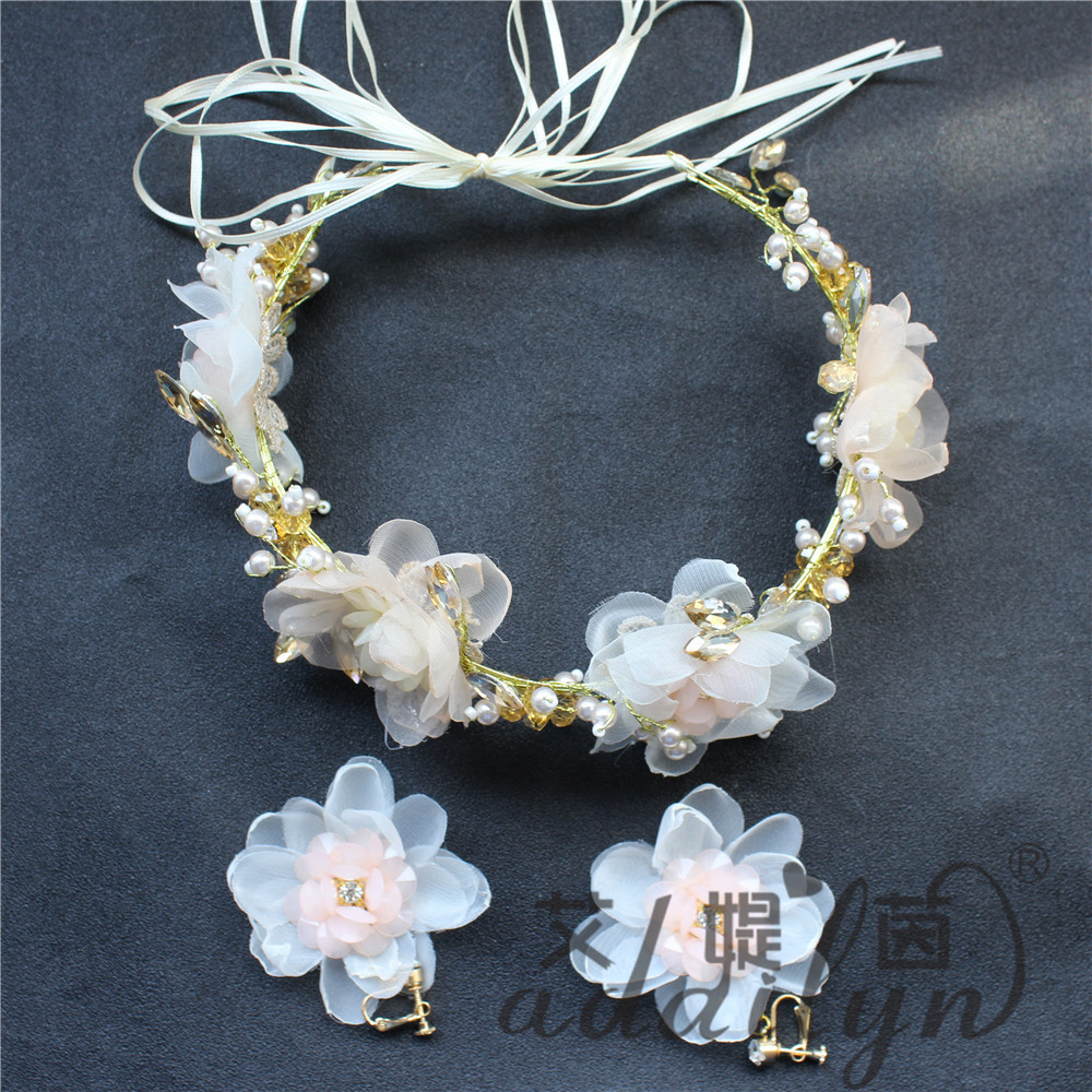 Pearls bands hair accessories crown tiara for girl