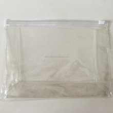 Custom printed clear plastic zipper slide bag with handle