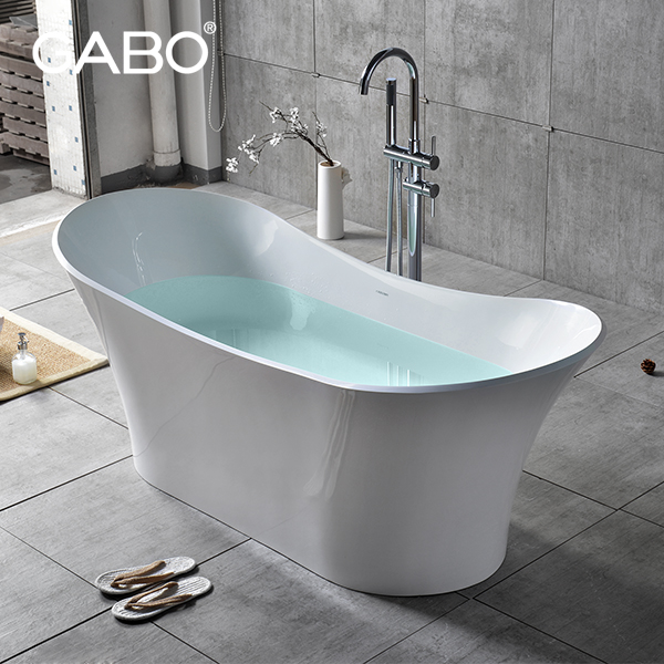 Portable Walk In Man-made Stone Bathtub With Armrest For Adults