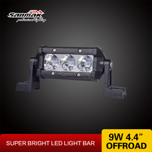 NEW 4 inch Single Row LED light bar cree 9w truck roof off road tractor light bar