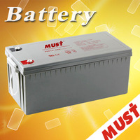 Must 12V 200AH solar charger car gel battery