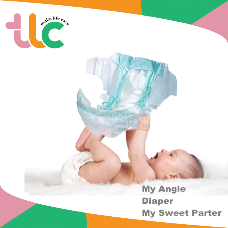 PE Film Disposable Soft PP Tape & SAP & Fast Absorbent Baby Diapers