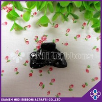 small plastic black butterfly hair claw clip,set of 2 butterfly hair claw clip