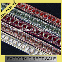 100% polyester Custom colors Flat Braid Elastic Band for curtains