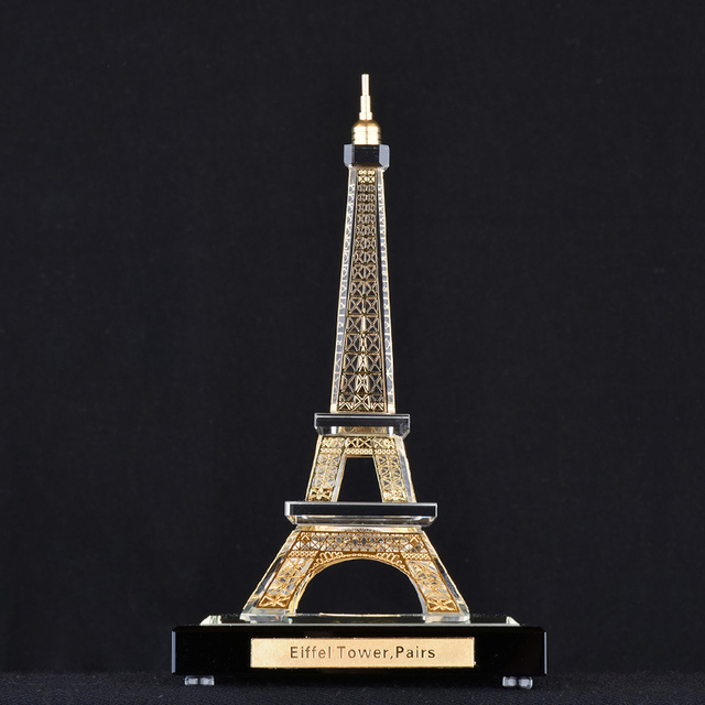Promational Eiffel Tower build mould crystal trophy custom crystal trophy china