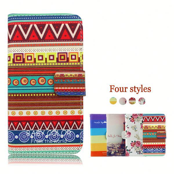 China Supplier Custom Phone Cases Leather Flip Case for Lenovo A390 A390T