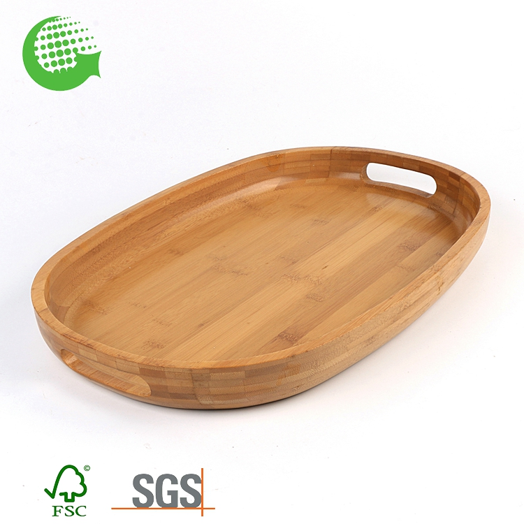 Wholesale Wooden Antique Bulk Cheap Bamboo Tea Serving Tray With Handle