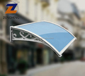 long lifetime modern shape UV coating polycarbonate canopy door awning