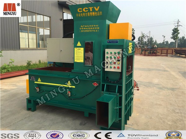 hot sales rice husk/wood shavings/straw/hay/croncob/sawdust/fiber/waste paper/rags/textile/plastics baler machine