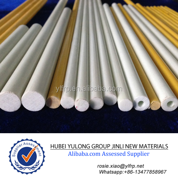 Pultruded FRP/GRP/GFRP Pencil Point End Reflective Tapered Fiberglass Rod