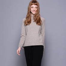 Women sweater cashmere knit autumn winter warm roll neck sweaters heavy loose sweater for girls