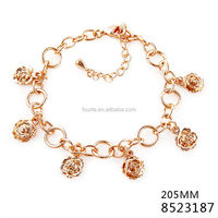 Yiwu factory direct rose gold charm bracelet