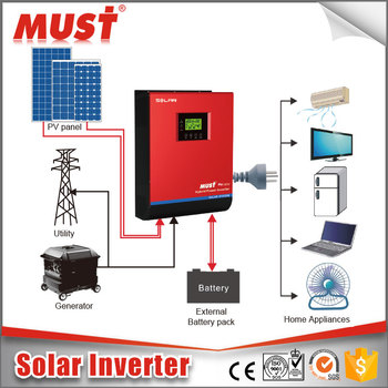 Hybrid Pure Sine Wave Inverter Solar Power Air Conditioner and Generator