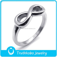 TKB-R0057 Forever Love Symbol ilver Steel Infinite Eternity Ring 316 Stainless Steel