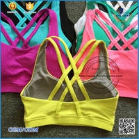 2016 sexy bra and panty new design Wholesale Ladies Sports Bra,Custom Hot Sexy Women's Running Yoga Sports Bra panty set