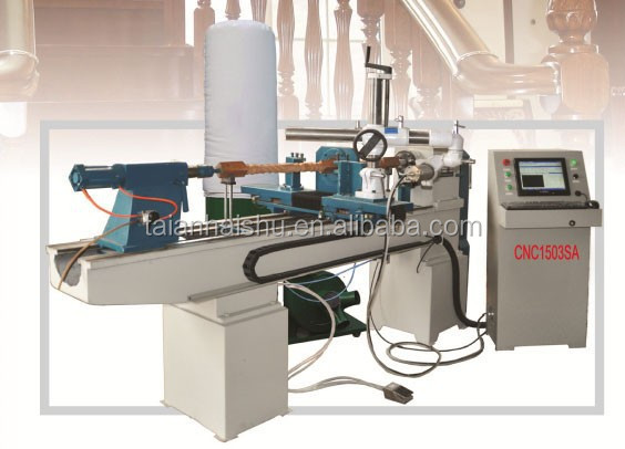 wood copying lathe CNC1503SA Double Turning Tools CNC woodworking lathe machine with low price