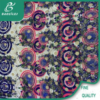 Factory direct sale african lace fabrics for garment with chemical lace embroidery fabric multi-color for hand embroidery design