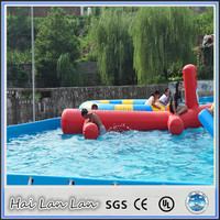 Inflatable Commercial Water Park Red Dog Toys For Sale