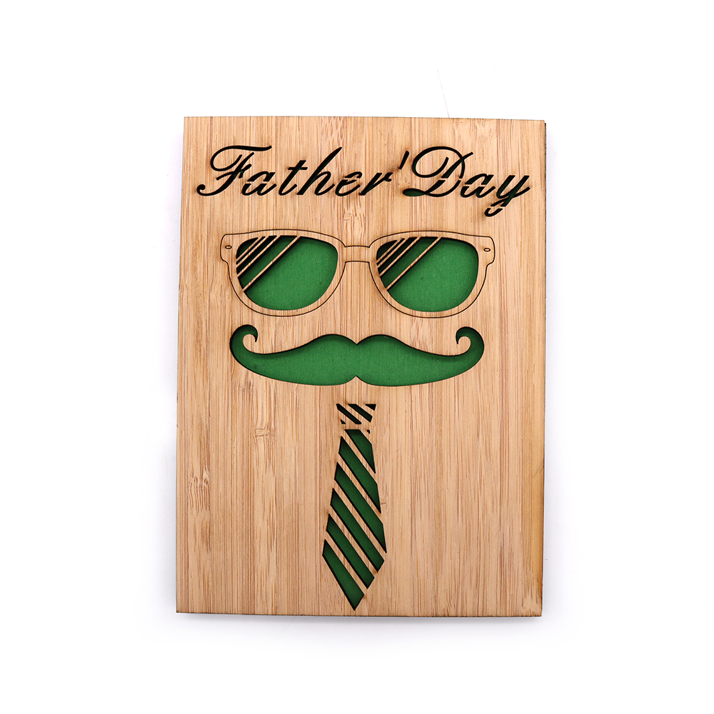 laser cut wooden greeting card Fathers Day gifts