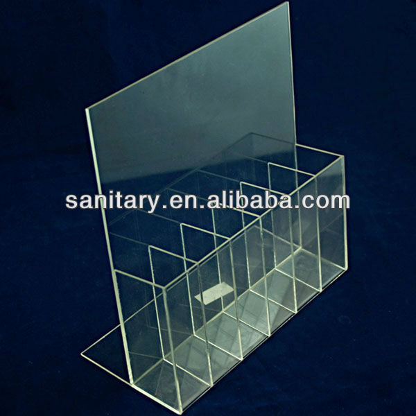 Acrylic nail file display shelf