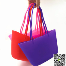 cute eco-friendly silicone material handbags for girls students