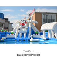 Inflatable Pool Water Park With Slides For Beach Activities,China New Inflatable Pool Slides Water Park For Kids And Adults