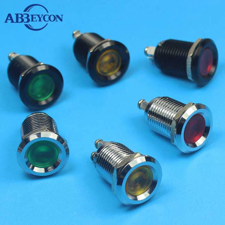 Metal Diameter 8mm 12v led pilot lamp with wire