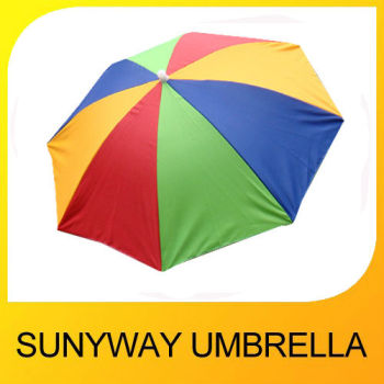 "Promotional Kids 13"" 8K Rainbow Hat Umbrella"