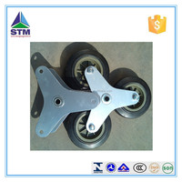 Triangle spokes soild wheel for stair climbing cart
