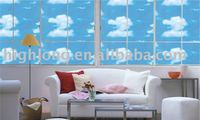 Window film blue sky with white cloud