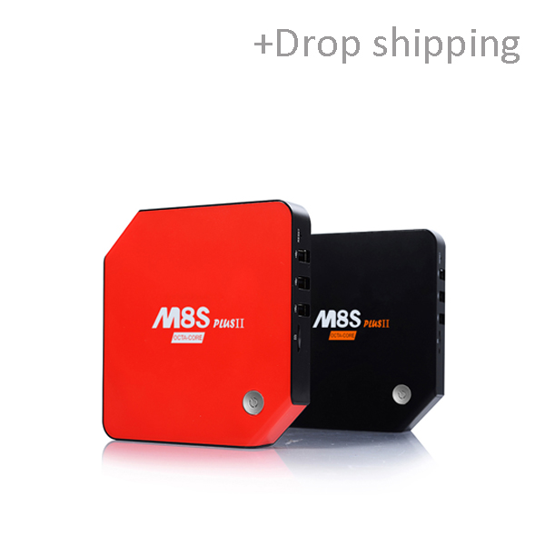 Android 6.0 tv box M8S Plus II 3GB/32GB Amlogic S912 Dual Band WiFi BT4.1 H.265 4K Media Player-Skype: colsales09