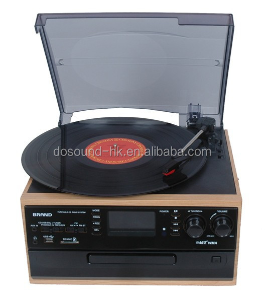 High-End Antique CD Gramophones For Sale with Radio and Cassette Player