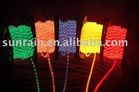 christmas decoration original round 2wires red blue rice rope light