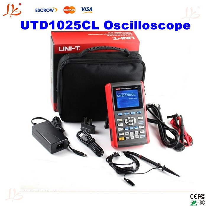 used digital oscilloscope sale UTD1025C,portable oscilloscope