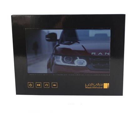 MiniVision LCD Video Screen Inside Printed Brochures for UK King&#39