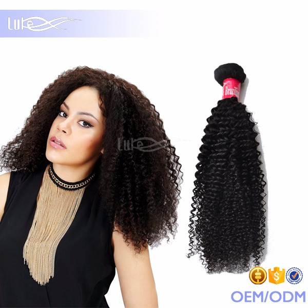2015 Hot! Cheap! Best Quality Brazilian Virgin Hair Weft Afro Kinky Curly Weave